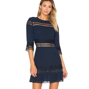 Tularosa Asher Dress Crochet Deep Indigo